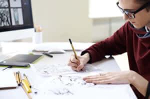 漫画を描く
