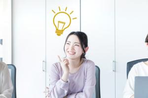 アイデアを発見する女性